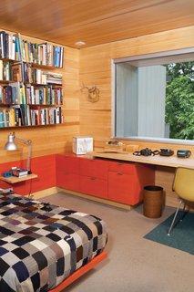 Hillside Mid-Century Home Renovation in Texas - Photo 1 of 10 - James's bedroom furniture was custom designed by Hatch Workshop.