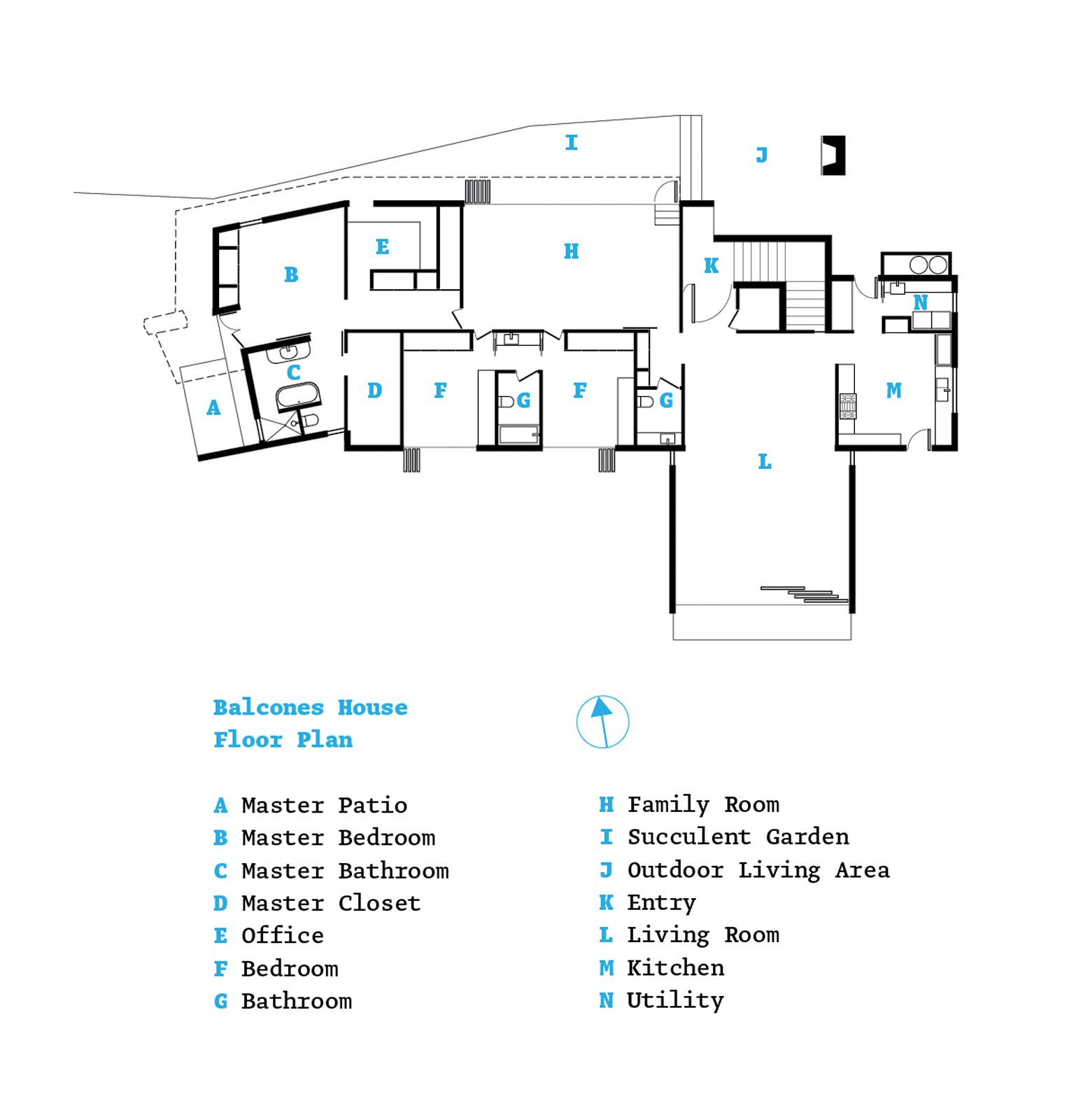 The floor plan.  Photo 10 of 10 in Hillside Mid-Century Home Renovation in Texas