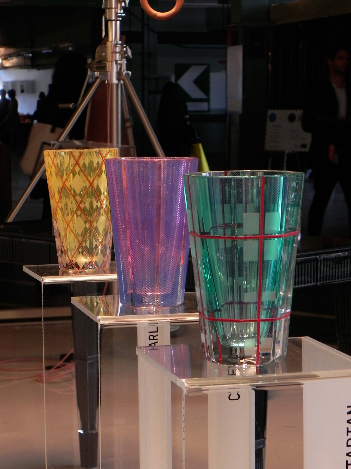 Also on show at Design Junction was a collection of glassware designed by students of the Luxury Industry and Design course at Switzerland's prestigious ECAL academy. The pieces were produced by Baccarat and the show was curated by London-based designer Bethan Laura Wood. Shown here are Chevron, Tartan, and Harlequin by Spanish and American designers Ana Varela and David Luraschi.  London Design Festival 2012 by Ali Morris