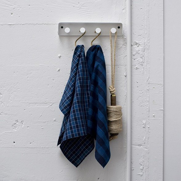 These Indigo Check dishtowels from Cloth and Goods ($30) are made from new Japanese fabrics woven in hand-operated looms.