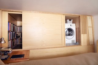 Space-Saving Wood-Paneled Apartment in Manhattan - Photo 3 of 8 -