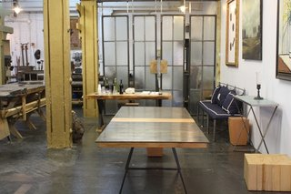 Designer Richard Velloso has been in this space since July after relocating from a more retail-centric space also in DUMBO. This is now his showroom and workspace and he lives right across the street.