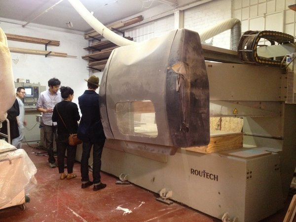 The much talked about enormous CNC machine (rumor has it the largest in Brooklyn) was reason enough for a visit