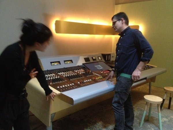 UM designer Francois Chambard shows off a year's worth of work: a sleek, state-of-the-art, custom console for The Motherbrain, a recording studio in Brooklyn.
