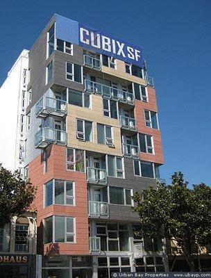 Exterior of the Cubix building in San Francisco.