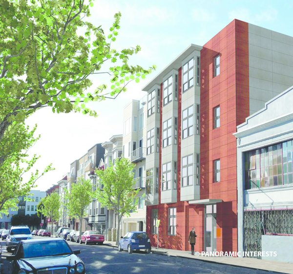 A rendering of the building at 38 Harriet Street in San Francisco's SoMa district.