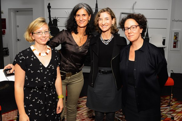 (Left to right) Critic Alexandra Lange with architects Galia Solomonoff, Marion Weiss, and Claire Weisz at the City Modern Women In Design panel discussion.