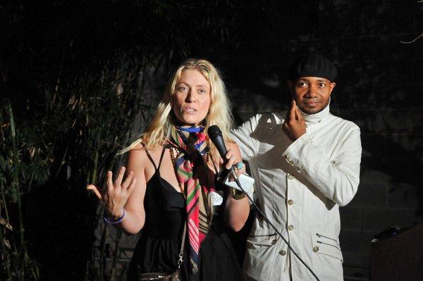 Maranda Pleasant, publisher of Origin Magazine, introduces the award-winning DJ Spooky (Paul Miller).
