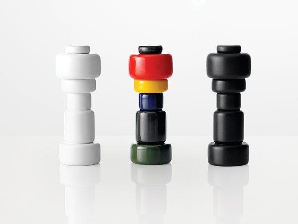 The museum recently acquired 11 Muuto products for its permanent collection, including the Plus salt-and-pepper grinders designed by Norway Says (above).