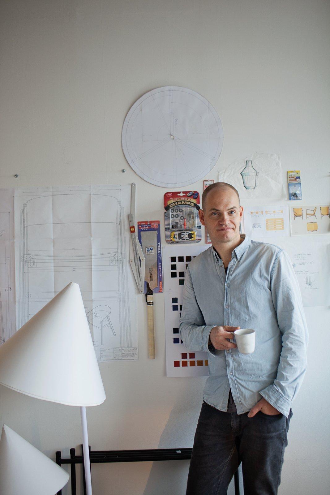 At his Copenhagen studio, Bentzen creates designs and prototypes for Muuto and other companies, including HAY, Royal Copenhagen, and Normann Copenhagen.  Photo 3 of 9 in Scandinavian Design Focus: Muuto