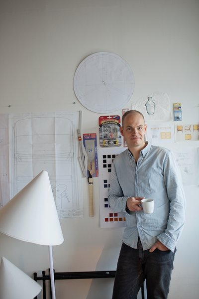 At his Copenhagen studio, Bentzen creates designs and prototypes for Muuto and other companies, including HAY, Royal Copenhagen, and Normann Copenhagen.