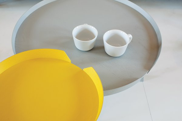 Bentzen's ash and plywood Around Table was released by Muuto in 2011.