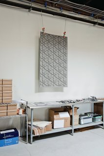 Jennifer Morla's cutwork wall hangings are made from industrial wool felt.