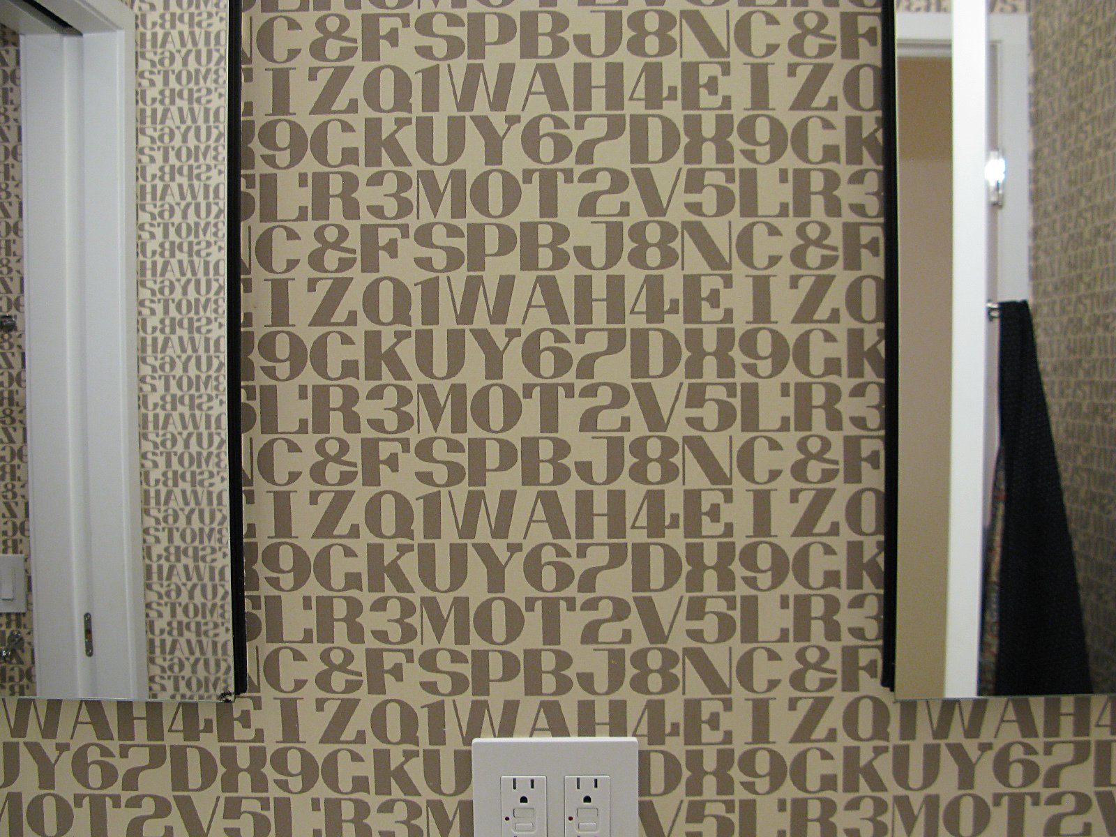 More patterned wallpaper in the bathroom.  Photo 11 of 42 in Wallpaper That Fixes Walls