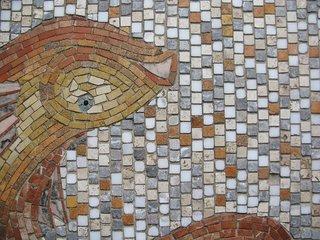 Mosaic tile details.