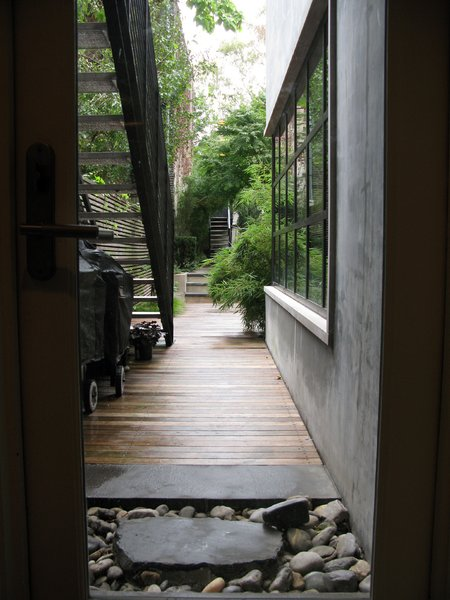 The walkway to the garden.