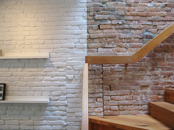 Dwell revealing the pros and cons of exposed brick and for White exposed brick wall