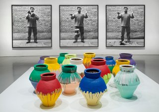 Installation view of Ai Weiwei: According to What? at the Hirshhorn Museum and Sculpture Garden, Washington D.C., 2012. Photo by Cathy Carver.