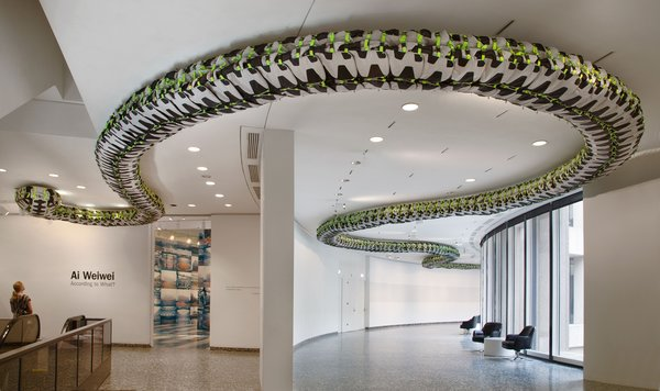 Installation view of Snake Ceiling at the Hirshhorn Museum and Sculpture Garden, Washington D.C., 2012. Photo by Cathy Carver.