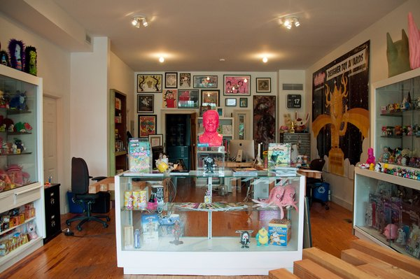 In addition to being a great place to pick up some of your favorite Kid Robot designs, Dream In Plastic's colorful storefront is also home to cult-zine Clutter, and a host of hard-to-find toys and memorabilia.