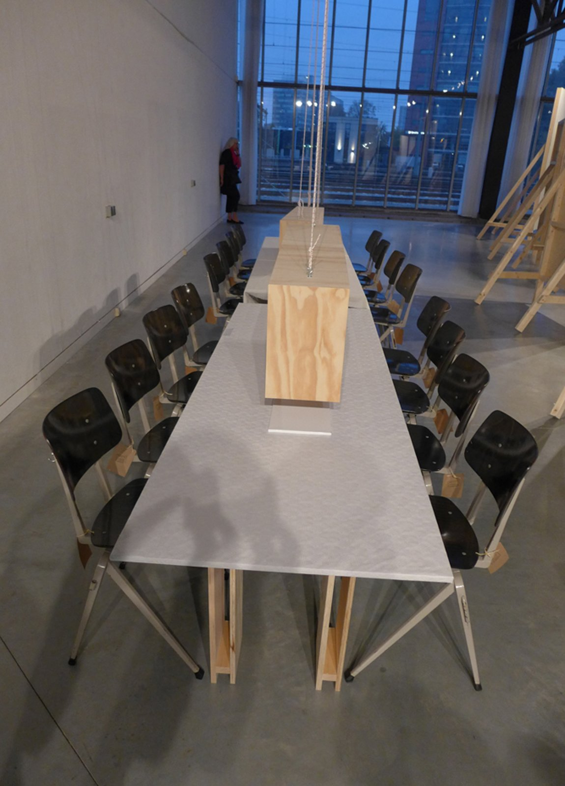 """At Dutch Intertuvals, a dining table was a main player in the show """"Conflict"""" in which a combination of slow food and proper fast food was served.  Dutch Design Week 2012, Pt. 2 by Maarten Dinger"""