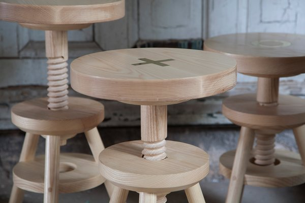 Here's a detail shot of the stool. Photo by Don Freeman.