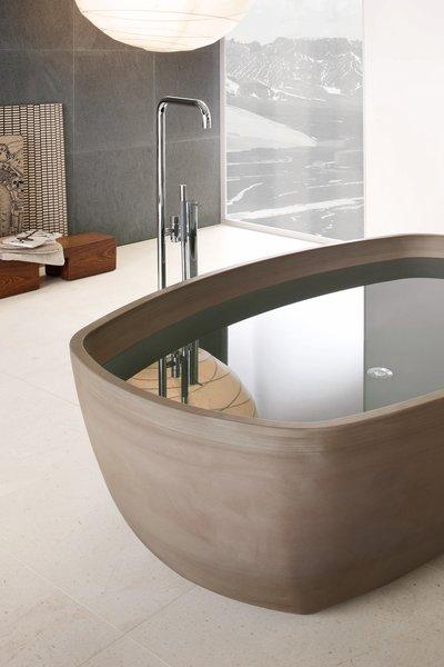 Inkstone bathtub, Sand Brown stone.