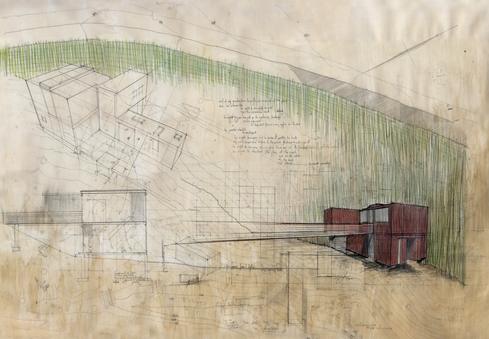 Concept drawing of the home. It ultimately came to $225 per square foot, which is falls in the lower end of custom construction costs in Northern California  Photo 8 of 9 in Railroad Revival
