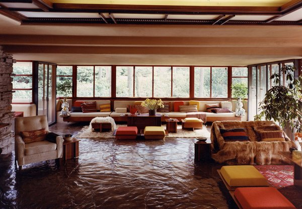 Inside Fallingwater on iconichouses.org