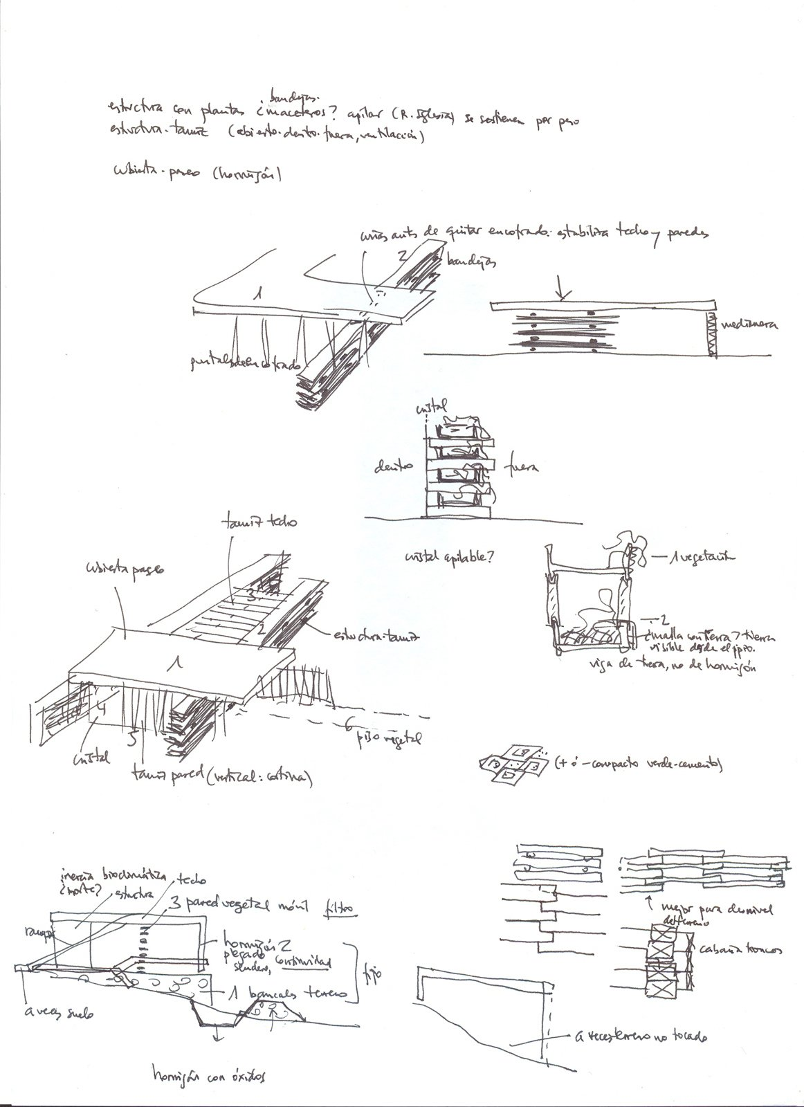 Here are some preliminary sketches of the project. Resident Desiree Marin wanted a house that would blend in with its environment and that could be built without disturbing the mature trees on her property.  Photo 10 of 10 in An Innovative Modular Building System in Ecuador