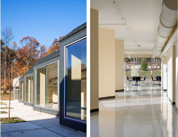 "One unique aspect of REED Academy is that rather than having large hallways with monotonous rows of doors one walks through the school along street-like paths that include a series of alcoves. ""The idea is that as you pass through the hallway it becomes a different space,"" Weisz says. This helps students at REED slowly become comfortable with moving through a building and with interacting socially. ""It could be that a student does a store for a day, or someone puts something special there. We had to do something that didn't give too many clues, because part of it is teaching the kids the grid of a building,"" Weisz further explains. ""It's a place where everyone feels safe and accepted, but also they can learn to cope with more stimulus. It's this thing where the building is used to build capacity. It made me think: This is not so different than you and I."" Photo ©Albert Vecerka/Esto."