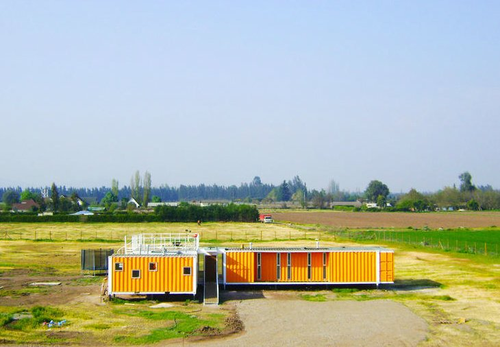 Casa Liray by Chilean firm Arqtainer.  Shipping Containers by Dwell from Amazing Examples of Shipping Container Architecture