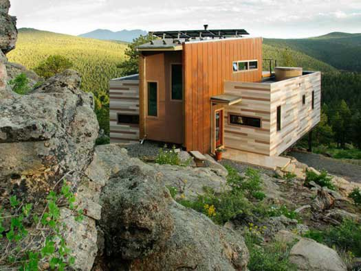 Studio H:T designed this shipping container home on Nederland, Colorado.
