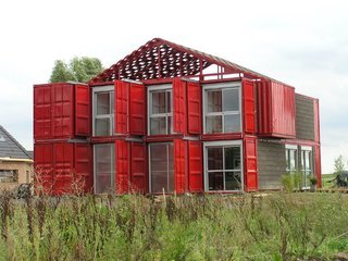 12 Shipping Container Homes That Challenge the Meaning of Shelter - Photo 12 of 12 - This three-bedroom home in Lille, France, is made up of eight stacked containers.