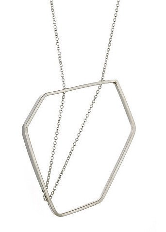 Imperfectly perfect, these delicate sterling silver geometric necklaces are handmade by Vanessa Gade. ($164)