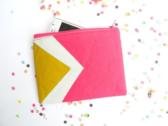 These multi-purpose zipper pouches using vibrant color contrast and geometric designs are too sweet to pass up. ($20-$36)