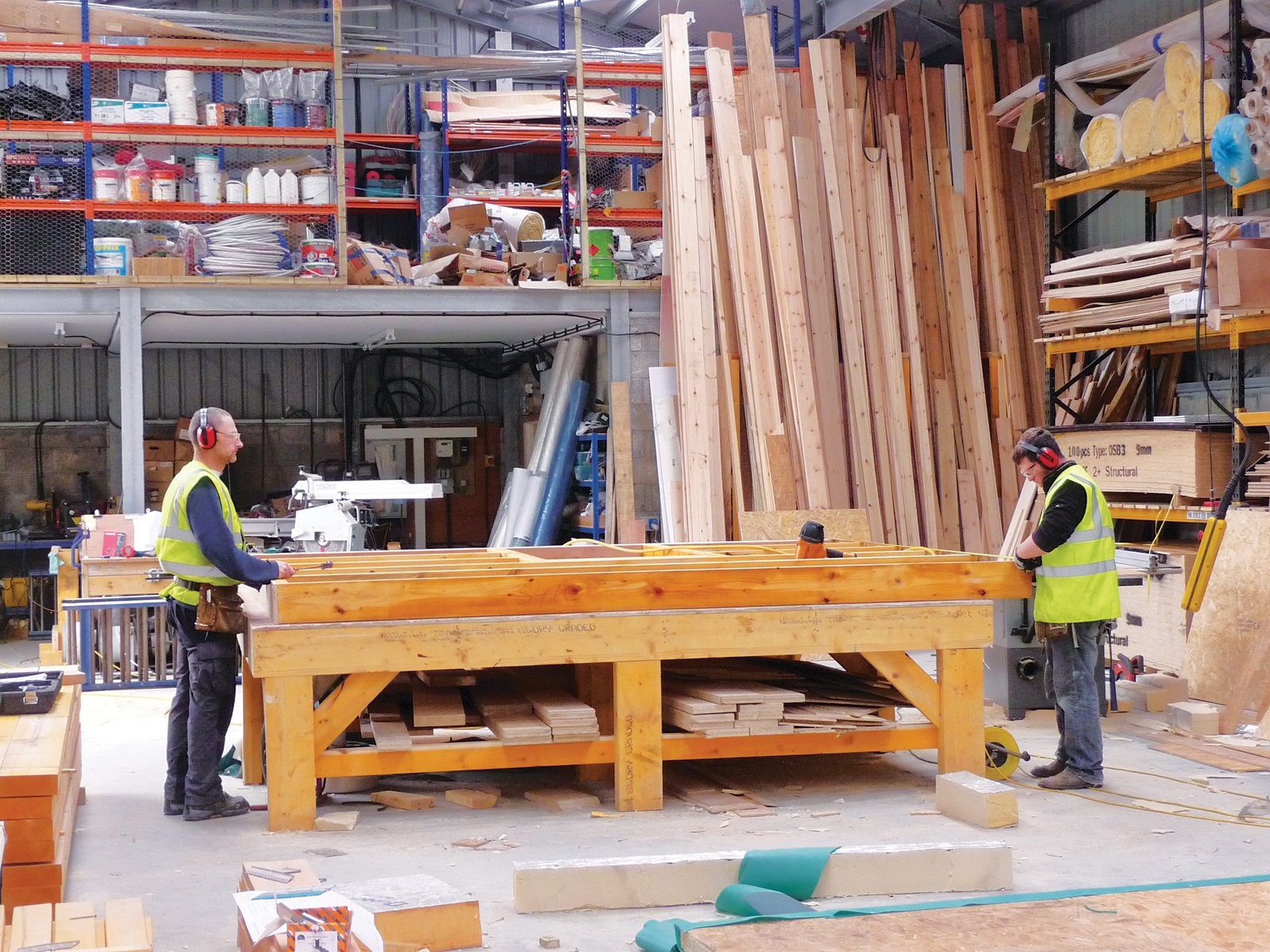 Local workers built the prototype in a nearby workshop.  Photo 2 of 3 in Locally-Sourced Prefab Prototype in Scotland