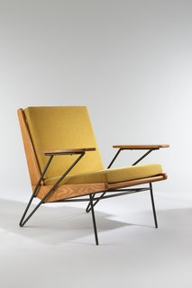 3 Tips for Mid-Century Modern Collectors - Photo 3 of 3 - Armchair, 1953. Ash, black enameled metal, upholstered. By Pierre Guariche.