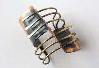 Modern Cuff, 1948. Brass, copper. By Art Smith.