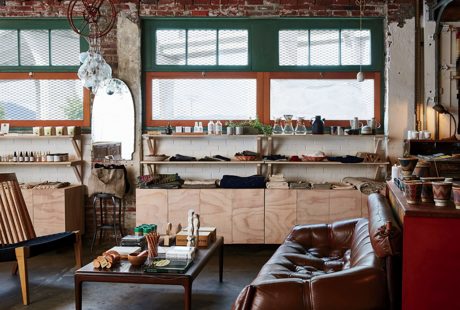A 7,000-square-foot warehouse in the city's industrial North Portland neighborhood plays hostto Beam & Anchor and its equally expansive inventory of goods.  Photo 6 of 11 in Take a Trip Through the Pacific Northwest With 10 Modern Spaces from A Portland Store That Hosts Workshops for Local Craftsmen and Makers