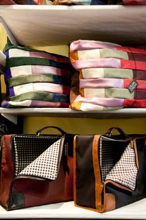 """Striped Cushions, from $35<br><br>""""We make cushions in lots of materials and sizes. They're one of our most popular products. Here there is a big demand for large cushions, maybe because Argentines like to sit on the floor!"""""""