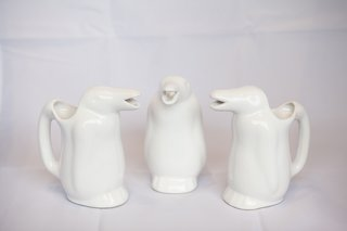 "Penguin Jug, $14<br><br>""These are made in a local ceramics workshop. It's a reissue of a traditional jug, used to serve barreled wine, that always came accompanied with an old-fashioned soda siphon. These days, you can use it as a water jug. The fun part is seeing the water pour from the penguin's beak. They make a great souvenir."""