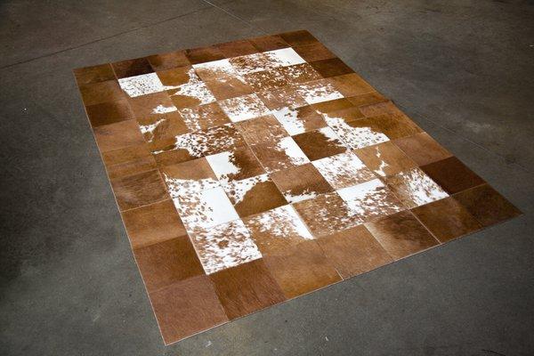 Patchwork Cowhide Rug, $430