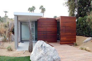 A small casita sits at the back of the F5 residence in Indian Wells, California.