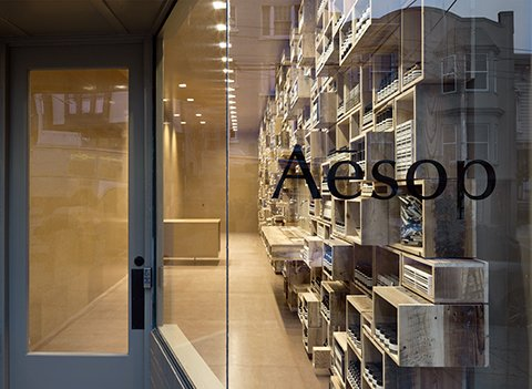 Long and narrow, the new Aesop shop on Fillmore St. in San Francisco opened December 20th, 2012.