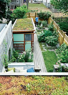 Run-Down Row House in Boston Becomes a Quiet Urban Escape with Two Green Roofs - Photo 5 of 10 -