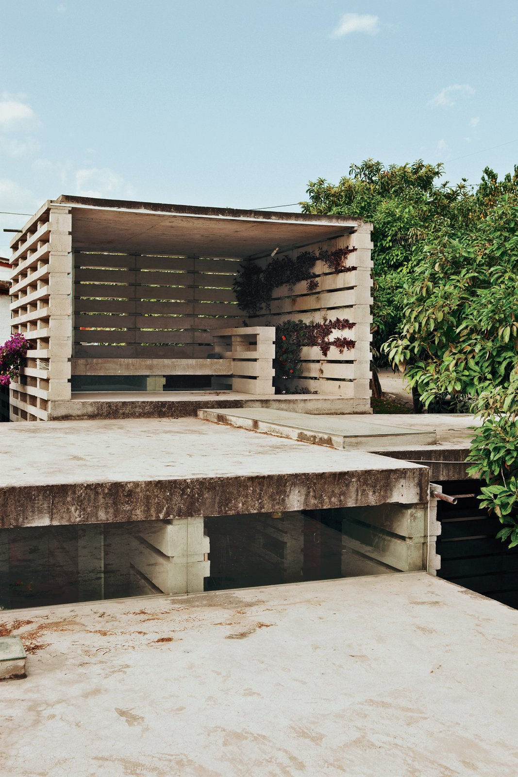 The open observatory. Tagged: Outdoor, Large Patio, Porch, Deck, and Concrete Patio, Porch, Deck.  Photo 8 of 10 in An Innovative Modular Building System in Ecuador