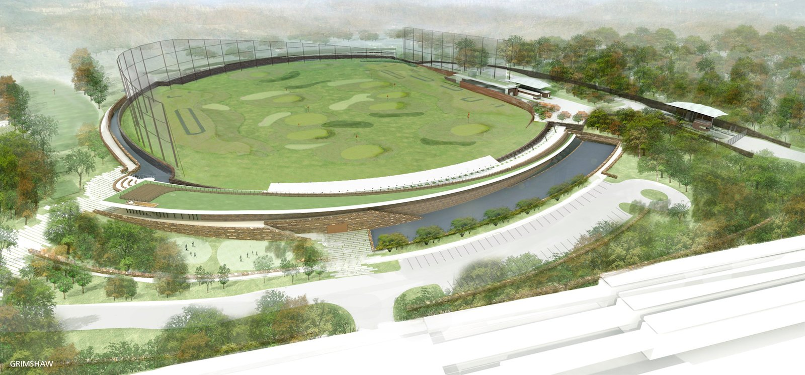 Croton Water Treatment Plant by Grimshaw Architects.