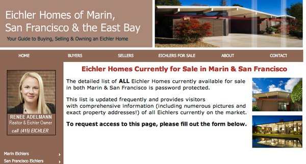 Eichler For Sale's website.