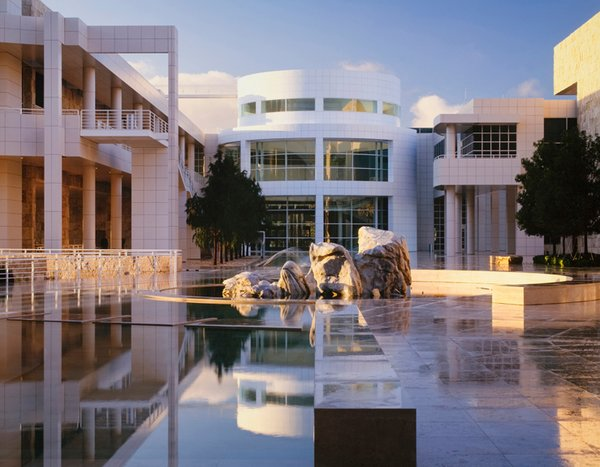 "The Getty Center, Los Angeles, 1984-97. (Copyright Scott Frances)<br><br>Oh, and about that signature shade of clear, bright white paint? It's made by Benjamin Moore and it's called Meier White. ""If I remember correctly,"" Meier says, ""it came out around the time we were doing the Getty."""